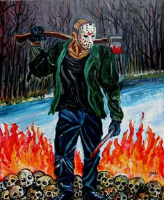 Jason returns from Hell (Friday the by JosefVonDoom on DeviantArt All Horror Movies, Horror Show, Horror Films, Horror Art, Friday The 13th Poster, Jason Friday, Horror Villains, Kodak Moment, Jason Voorhees