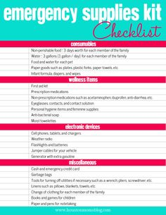 Be Hurricane Prepared {evacuation plans, free printable emergency supplies kit checklist, and more!} | Houston Moms Blog