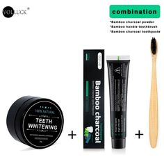 Teeth Whitening Kit Toothpaste Teeth Whitening Powder Activated Coconu – rtopr.cosmetic Activated Charcoal Teeth Whitening, Charcoal Toothpaste, Natural Teeth Whitening, Whitening Kit, Cha Natural, Anti Aging, Tooth Powder, Gum Health, Oral Health
