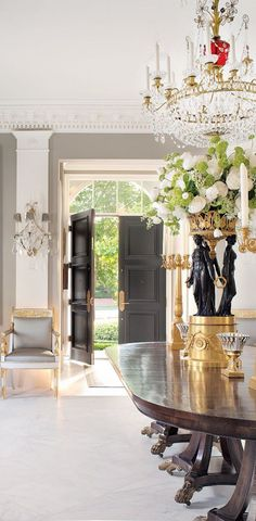 Classical European Grand Dining Hall, Luxury Living, Interior Design, Expensive Homes, Expensive Furniture, Design Ideas, Well Living. For More News: http://www.bocadolobo.com/en/news-and-events/