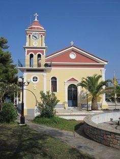 The Church of Gerasimus of Kefalonia, patron saint of Cephalonia, in Skala. (Greece)