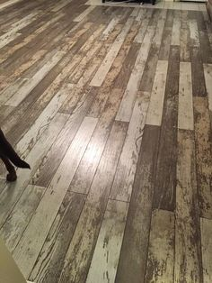 "New Bull Barn Oak is a laminate with a unique, weathered-wood look with a textured finish! ""Changing dingy carpet to laminate. The outcome is beautiful. I love it!"" – Gladys, TX"