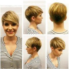 Cortes de pelo Corto con Flequillo de Lado - cortes de pelo Corto para el Corazón de la Cara Redonda o Forma de la Cara