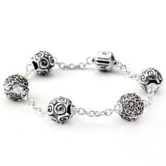PANDORA 5 Clip bracelet. $75.00 USD *Clips sold seperately