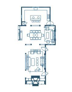 Designer Frank Roop's Living Room Floor Plan