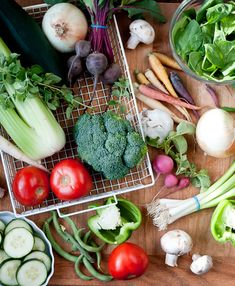 Guide to washing and storing veggies.