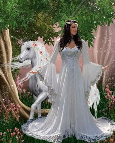 Victoria Velvet and Lace Fantasy Medieval Fairy Wedding Gown Custom. $895.00, via Etsy.