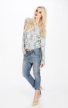 Wildfox Couture Marissa Boyfriend Jeans in Poetry