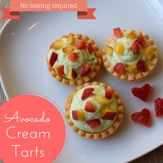 Simple and sweet Avocado Cream Tarts require only seven ingredients and no baking. Try them today!