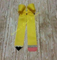 Pencil Bow #veronicasbowsnmore  Veronicasbowsnmore@yahoo.com