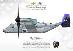 "UNITED STATES MARINE CORPS MARINE MEDIUM TILTROTOR SQUADRON 263 (VMM-263) ""Thunder Eagles"""