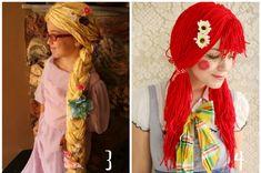 How to make yarn wigs