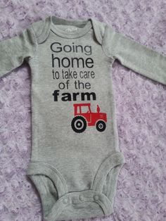 Baby boy coming home outfit. Baby tractor. Baby farm. Baby boy. Bringing home baby outfit. by LittleLoviesChic on Etsy https://www.etsy.com/listing/251557558/baby-boy-coming-home-outfit-baby-tractor