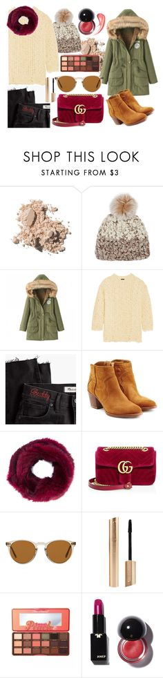 """""""Colour in Winter"""" by aletraghetti on Polyvore featuring moda, Bobbi Brown Cosmetics, Mischa Lampert, R13, Madewell, Zadig & Voltaire, Jocelyn, Gucci, Oliver Peoples y Too Faced Cosmetics"""