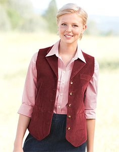Corduroy Vest for Women - Stretch Cord Button-Front Waistcoat -- Orvis on Orvis.com!