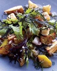Art Smith's hearty beet, turnip, parsnip and celery root salad is deliciously dressed with a citrus-honey vinaigrette.