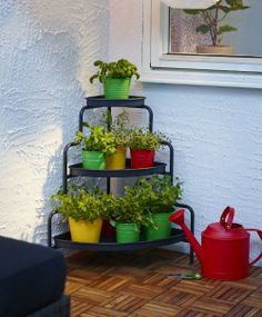 IKEA Fan Favorite: SOCKER plant pot. Bring out your botanical side. This space saving corner plant stand from IKEA can help create a garden even in the smallest outdoor spaces.
