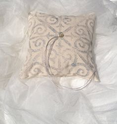 Wedding Ring Bearer Pillow Handprinted Metallic by MacAndLexie, $35.00 #etsy finds #chaos curators #chaoscurators #wedding day