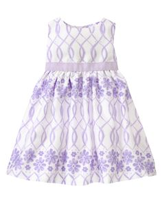 Gymboree 2015 Spring Party Lavender Lovely Floral Lattice Dress in Sweet Lavender Lattice ($39.95)