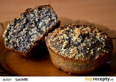 Zdravé a vláčné makové muffiny recept - TopRecepty.cz Apple Recipes, Raw Food Recipes, Baking Recipes, Cake Recipes, Dessert Recipes, Desserts, Healthy Cake, Healthy Sweets, Healthy Baking