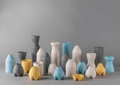 The aim of this project is to create a plaster mold made of moving modules so it would be possible cast an objects with different height and pattern using minimum materials, and solve plaster mold storage problem, at the same time. Objects casted with these molds can be used as vases, pots, bowls or cups. Inspiration for first prototypes were ancient columns and 1,5 l plastic bottles. Author: Maria Sidorenko