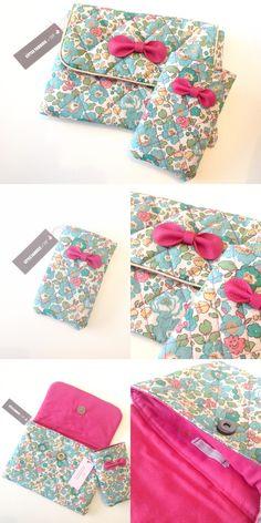 DUO { Pochette Ipad-mini et pochette Iphone } - Little Fabrics