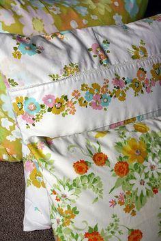 No-Sew Vintage Pillowcase covered throw pillow