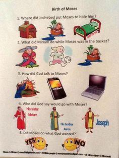Bible Fun For Kids: Life of Moses worksheet