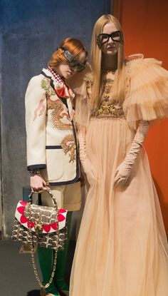 Behind-the-scenes at Gucci during Milan Fashion Week. Photographed by Kevin Tachman.