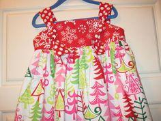 Christmas in july sale girls knot dress by southernseamskids 35 00