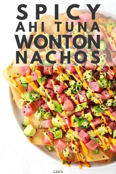 Factors You Need To Give Thought To When Selecting A Saucepan For All The Poke, Sushi And Ceviche Lovers Out There, These Spicy Ahi Tuna Wonton Nachos Were Made For You This Mouthwatering Healthy Recipe Takes Only 20 Minutes And 7 Ingredients To Make. Fish Recipes, Seafood Recipes, Vegetarian Recipes, Cooking Recipes, Healthy Recipes, Fresh Tuna Recipes, Cooking Tips, Healthy Nachos, Dinner Recipes