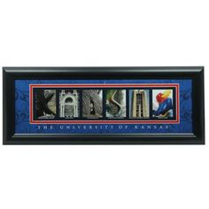 Kansas Jayhawks 8'' x 20'' Framed Letter Art #Fanatics