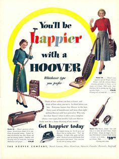1940s Hoover vacuum ad