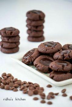 Chocolate thumb print cookies
