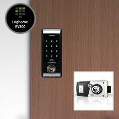 Verrou de porte électronique modèle EV500. Disponible sur http://www.serrure-a-code.fr