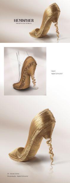 3D - Shoes Hair on Behance