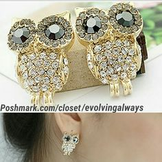 Selling this New Beautiful Owl Earrings in my Poshmark closet! My username is: evolvingalways. #shopmycloset #poshmark #fashion #shopping #style #forsale #Jewelry