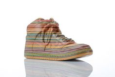 mosiac sculptures created out of recycled skateboard decks by Haroshi