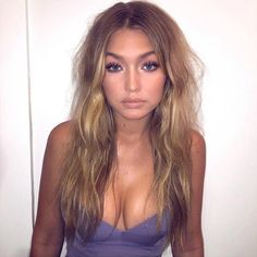 Gigi Hadid — My main makeup inspiration. Gorgeous glowing tan + nude glossy lip + neutral eyes