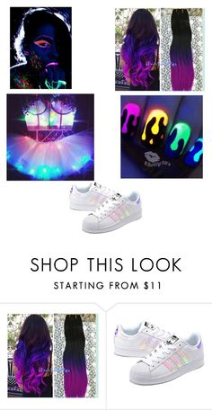 """Raver of Expression"" by crazybossette on Polyvore featuring adidas Originals"
