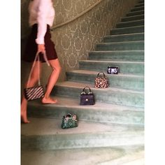 "girlinmiumiu: "" All those mini bags @jeannedamas #girlinmiumiu """