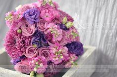 Purple  wedding Bouquet Lysianthus Roses Daysies Chrisantemus Statis Margaritas Crisantemo