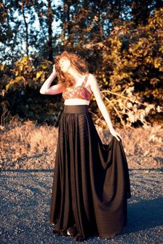 Bustier pattern and long skirt pattern