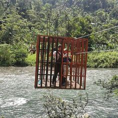 Brother And Sister From Costa Rica Crossing A River To Get To The Territory!