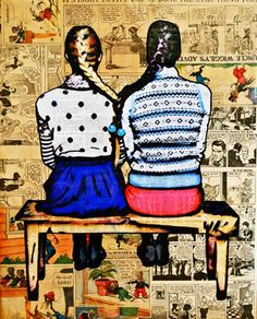 """Saatchi Online Artist Annie Terrazzo; Mixed Media, """"See You In The Funny Papers"""" #art"""