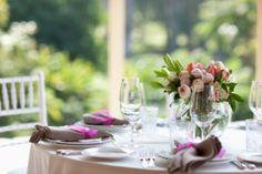 arreglos de mesa para bodas con globos
