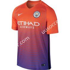 2016-17 Manchester City 2nd Away Orange Thailand Soccer Jersey AAA