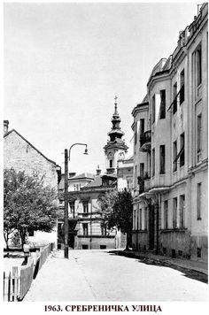 Srebrenicka street in 1963 in Belgrade