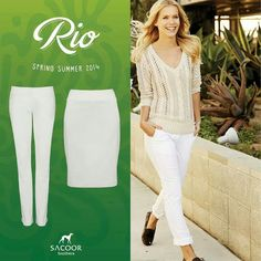 Sacoor Summer 2014, Spring Summer, White Jeans, Women's Fashion, Pants, Fashion Women, Trousers, Womens Fashion, Women Pants