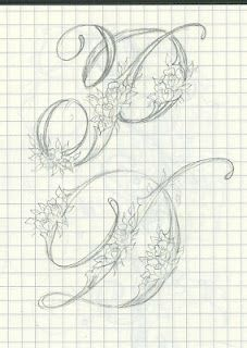 Heather Held - sketches for ornate letters